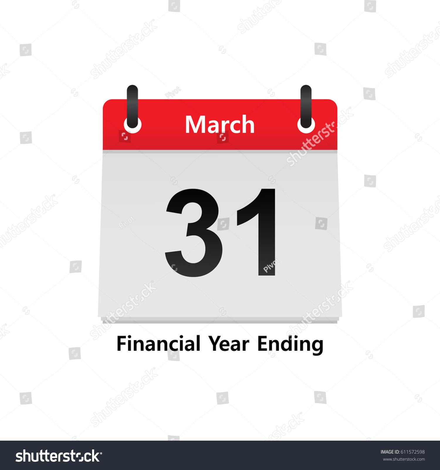 Calendar Year End : Calendar fiscal year end march stock vector