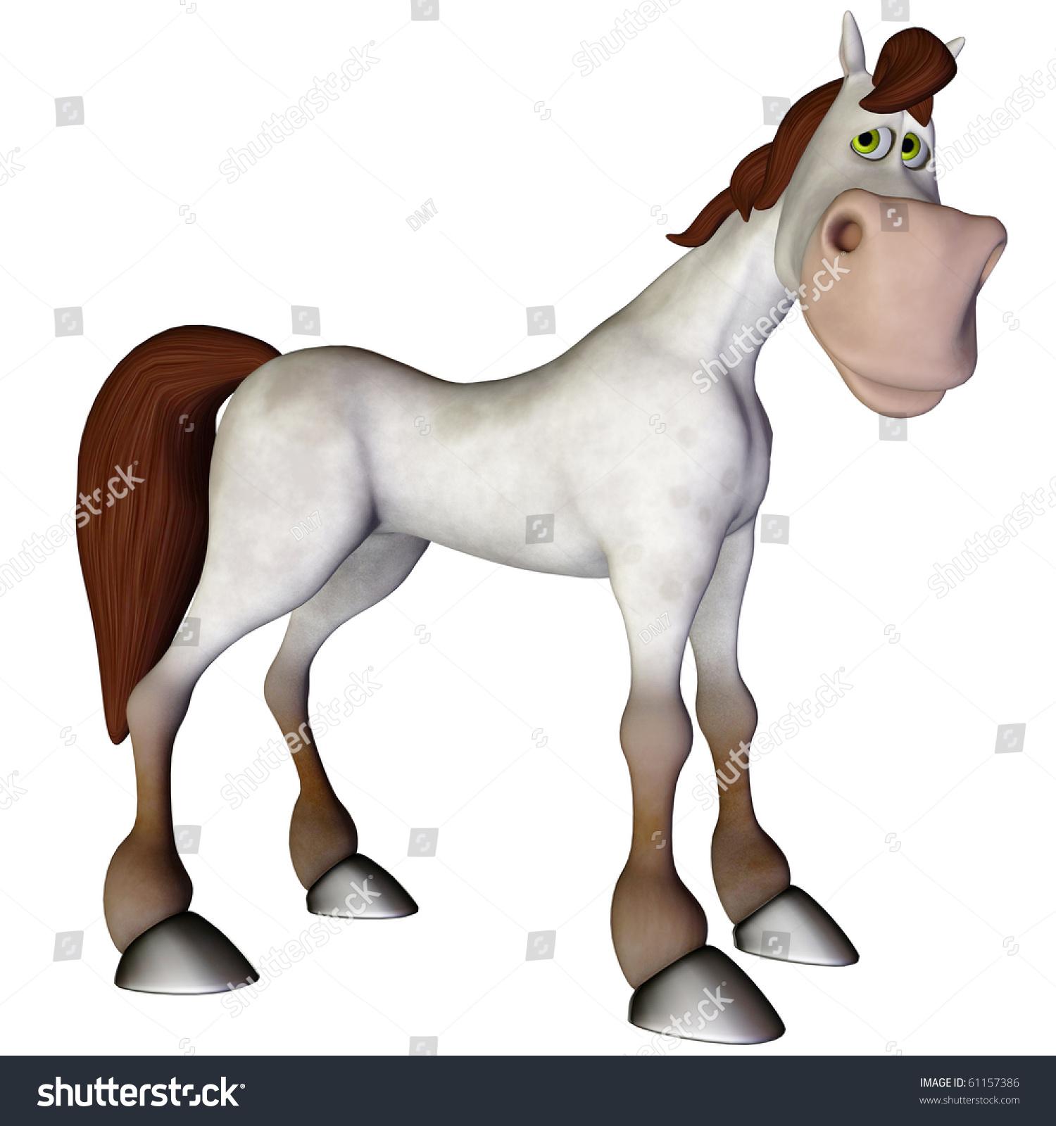 stock photo cartoon horse