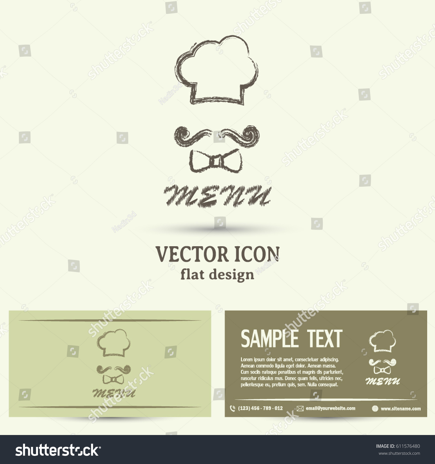 Business Cards Design Chef Hat Big Stock Vector 611576480 - Shutterstock