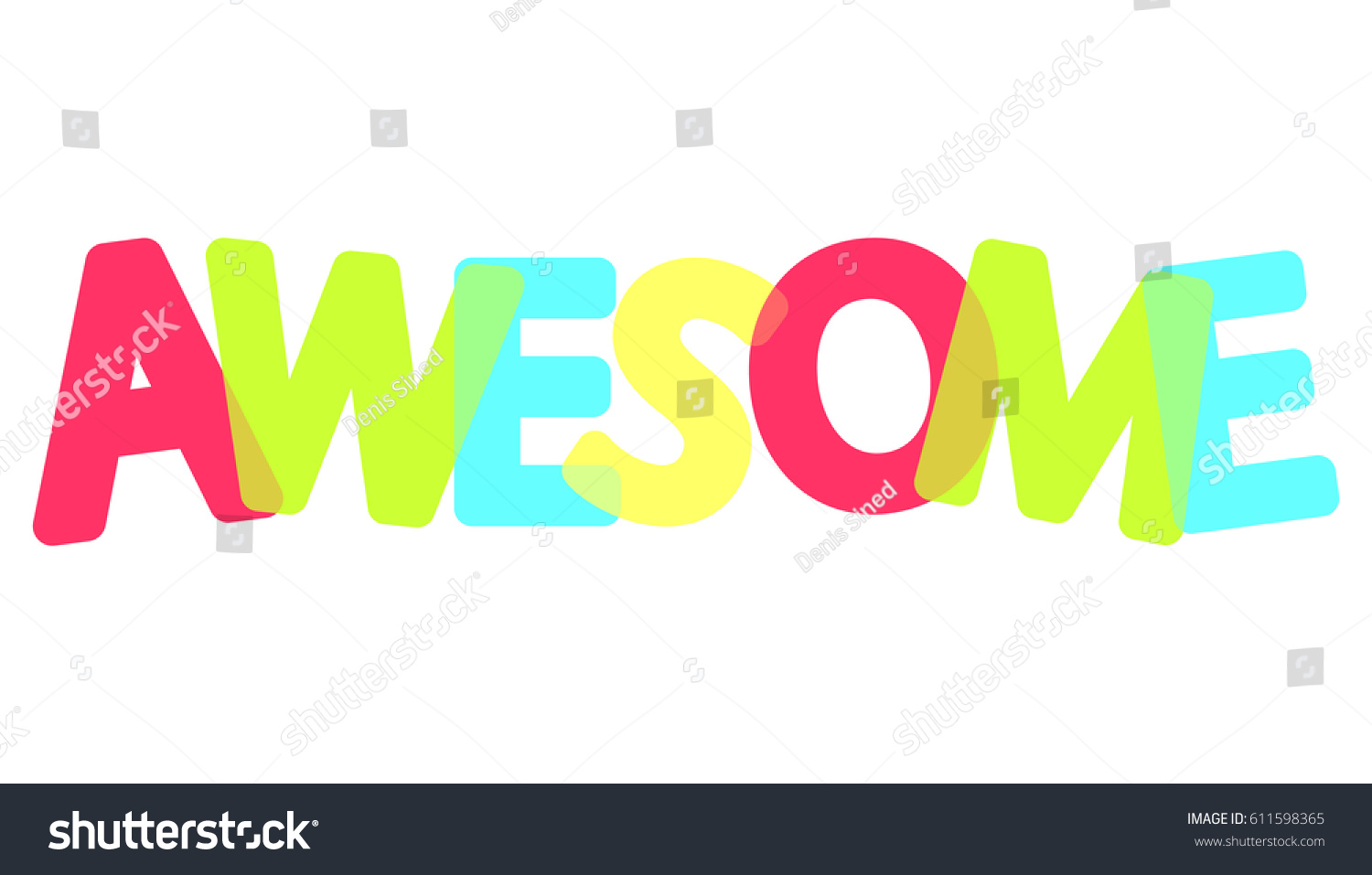 Awesome Colorful Poster Word Design Template Vector – Poster Word Template