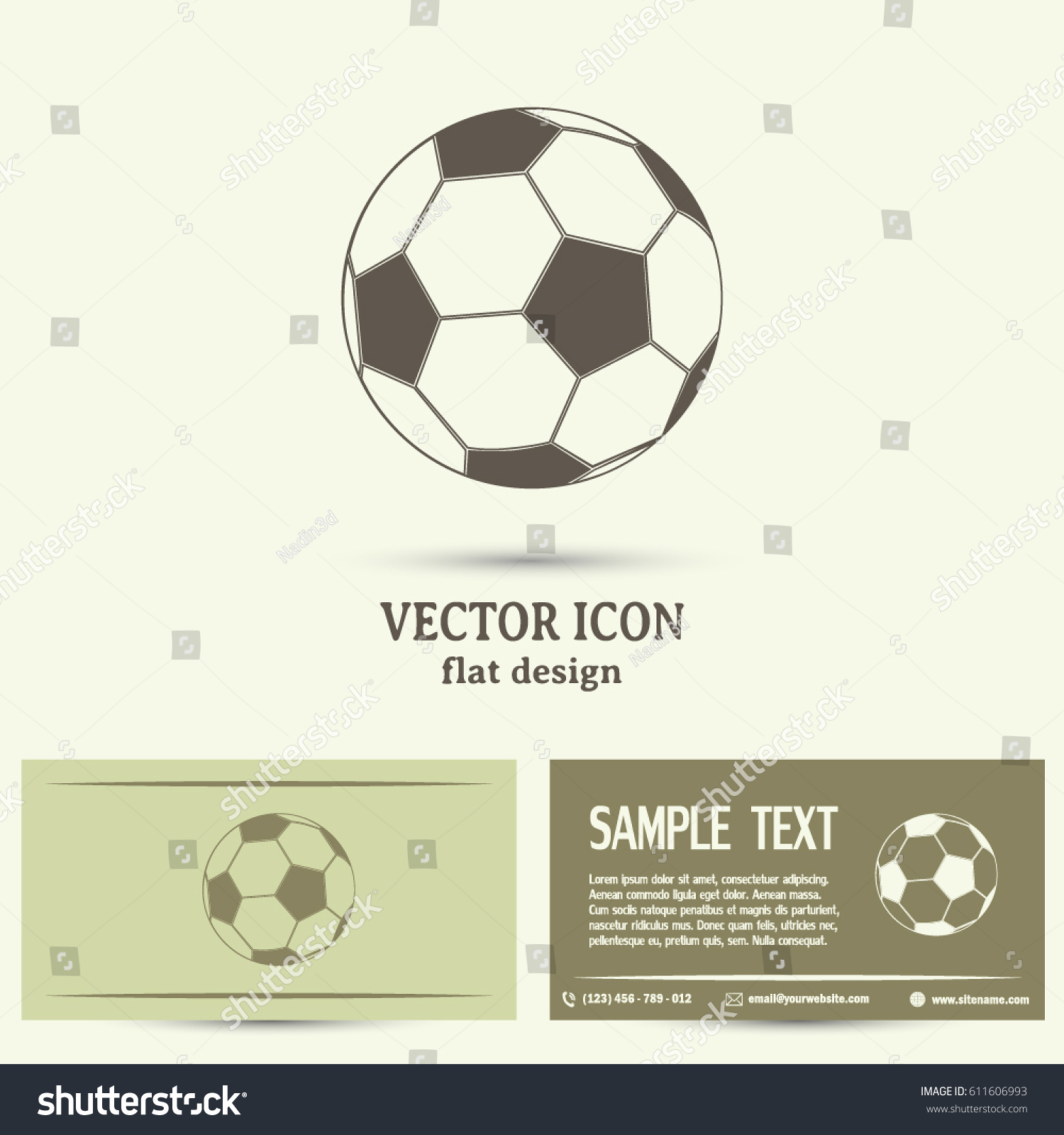 Business Cards Design Soccer Ball Icon Stock Vector 611606993 ...