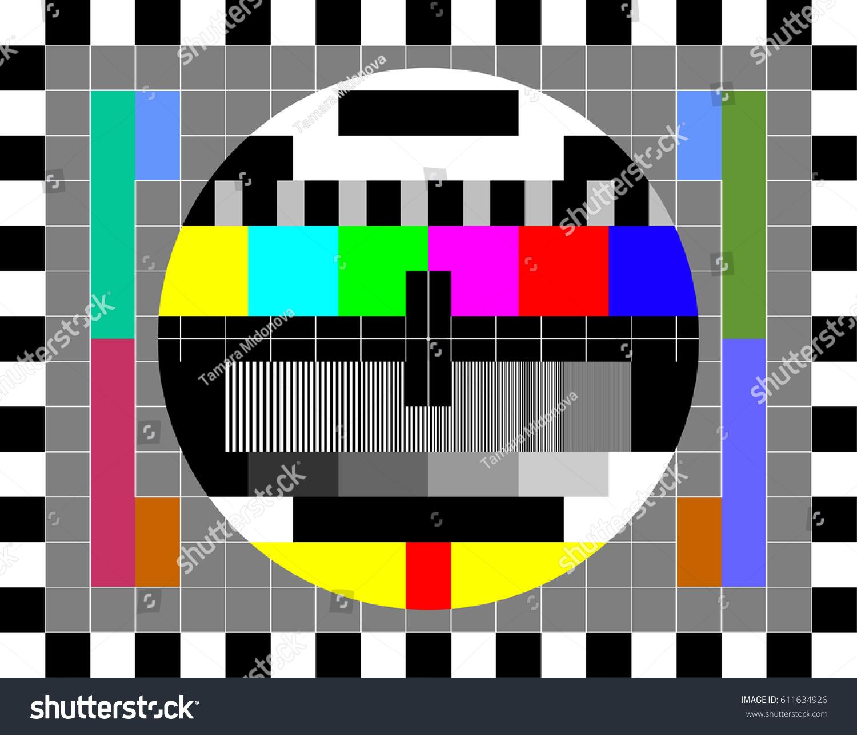Tv Test Card Rainbow Multi Color Stock Vector 611634926