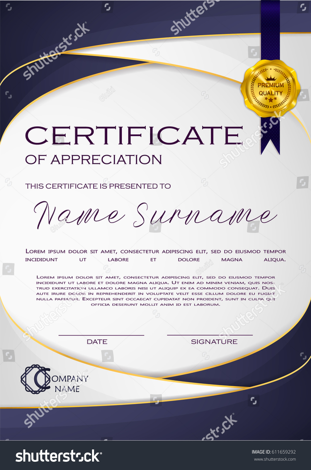 Qualification Certificate Blank Template 113897267 Qualification
