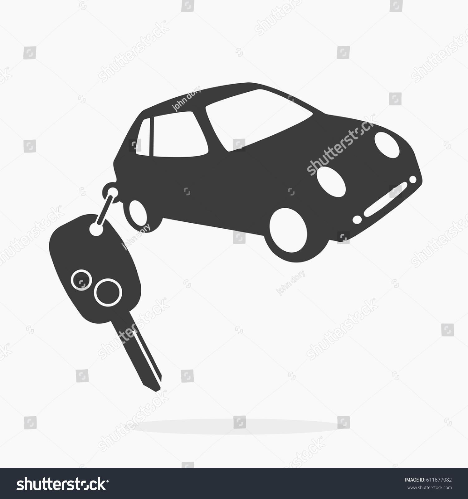 Vector Key Illustration: Vector Icon Car Key Vector Illustration Stock Vector
