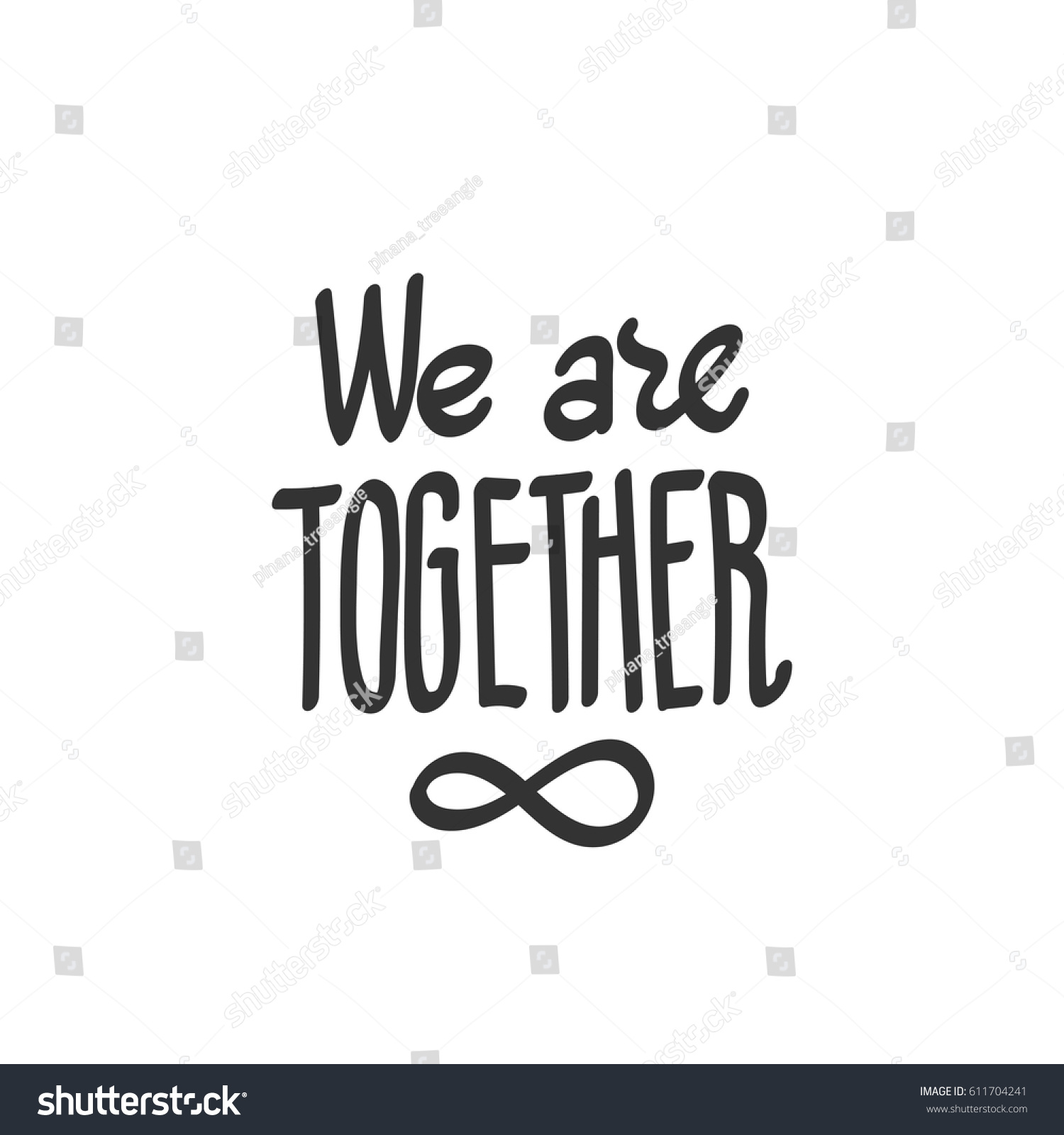We Together Lettering Infinity Symbol Which Stock Vector Royalty