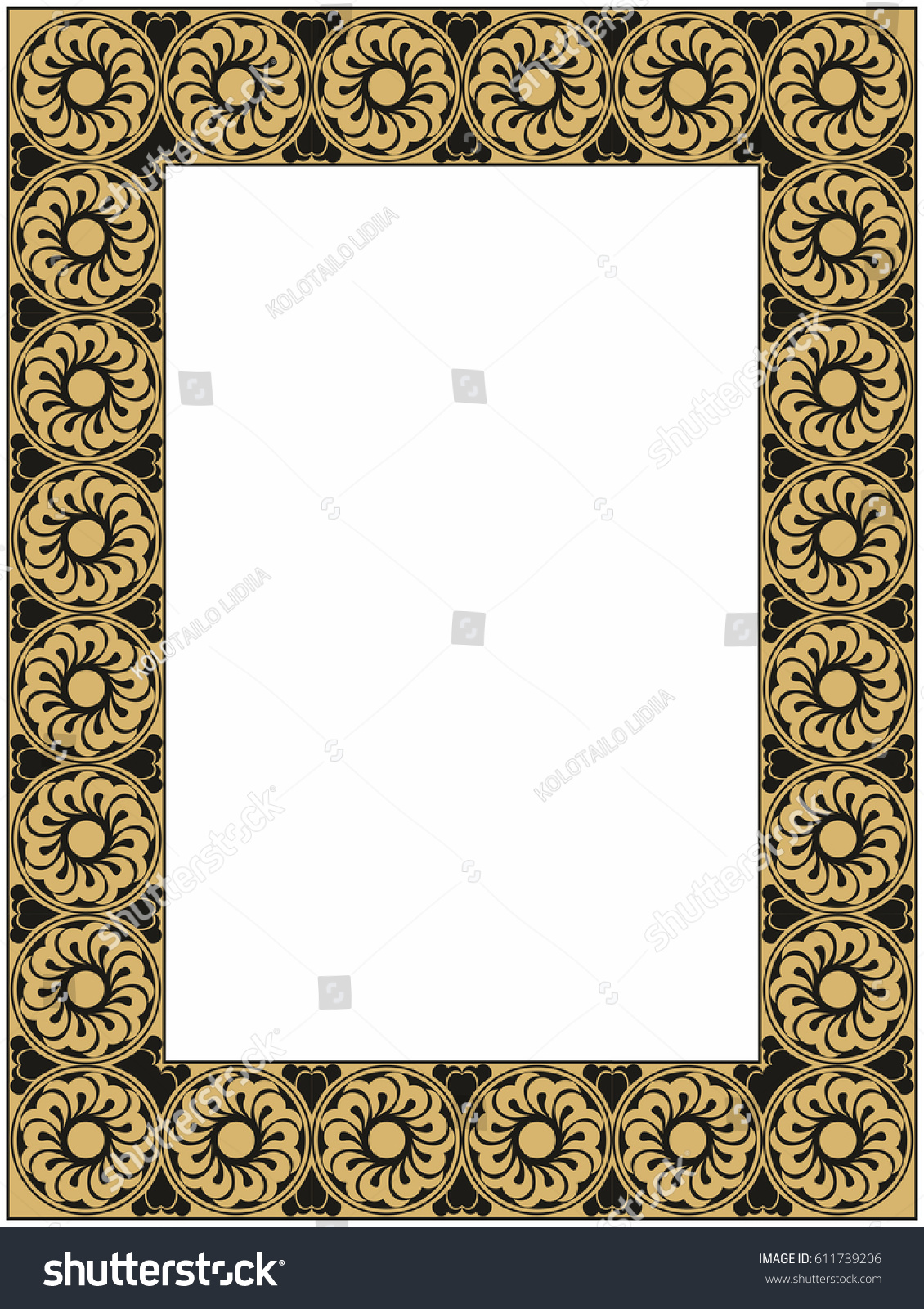 Gold black frame stock illustration 611739206 shutterstock gold and black frame jeuxipadfo Image collections
