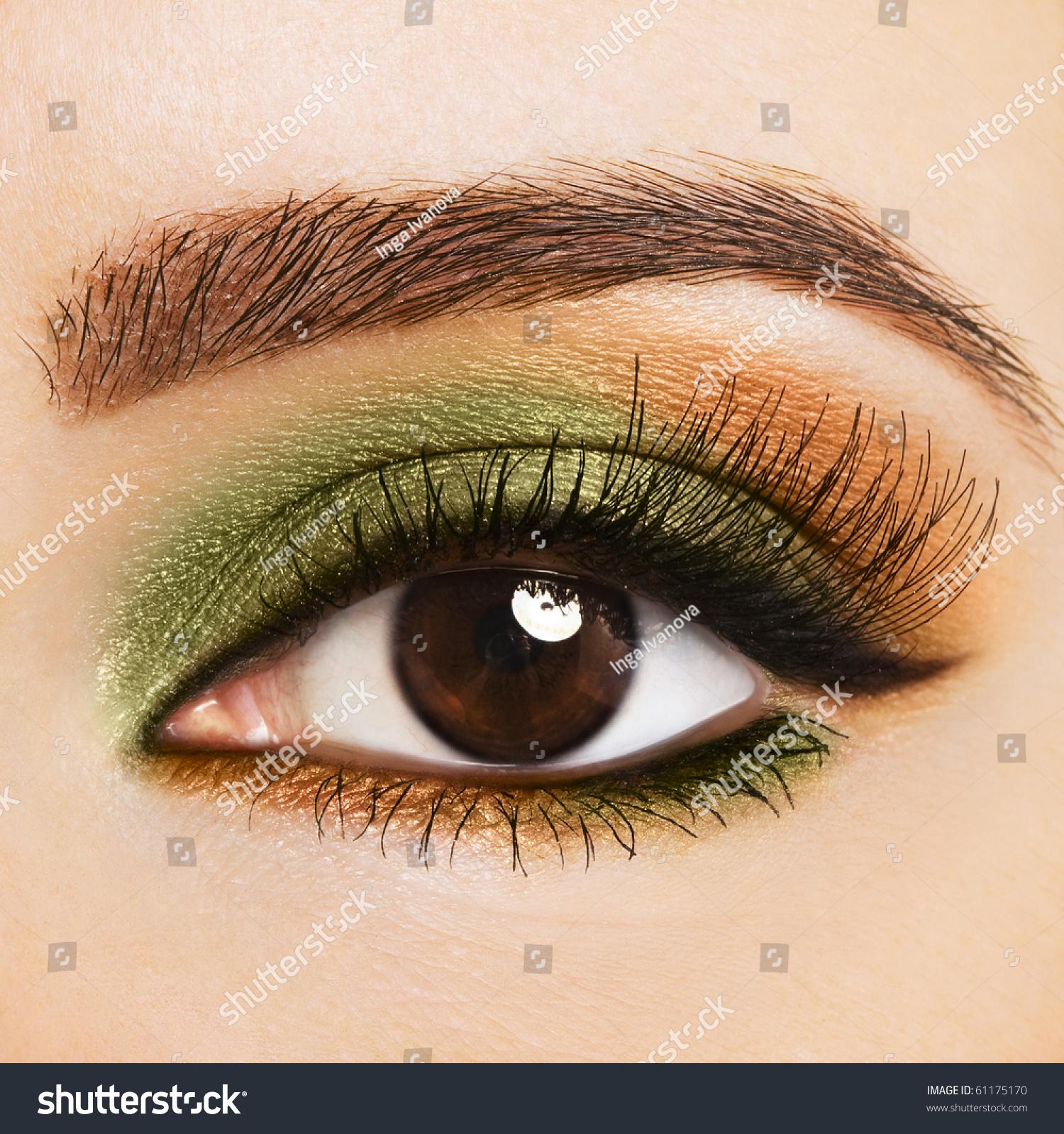 тени для зелено карих глаз фото