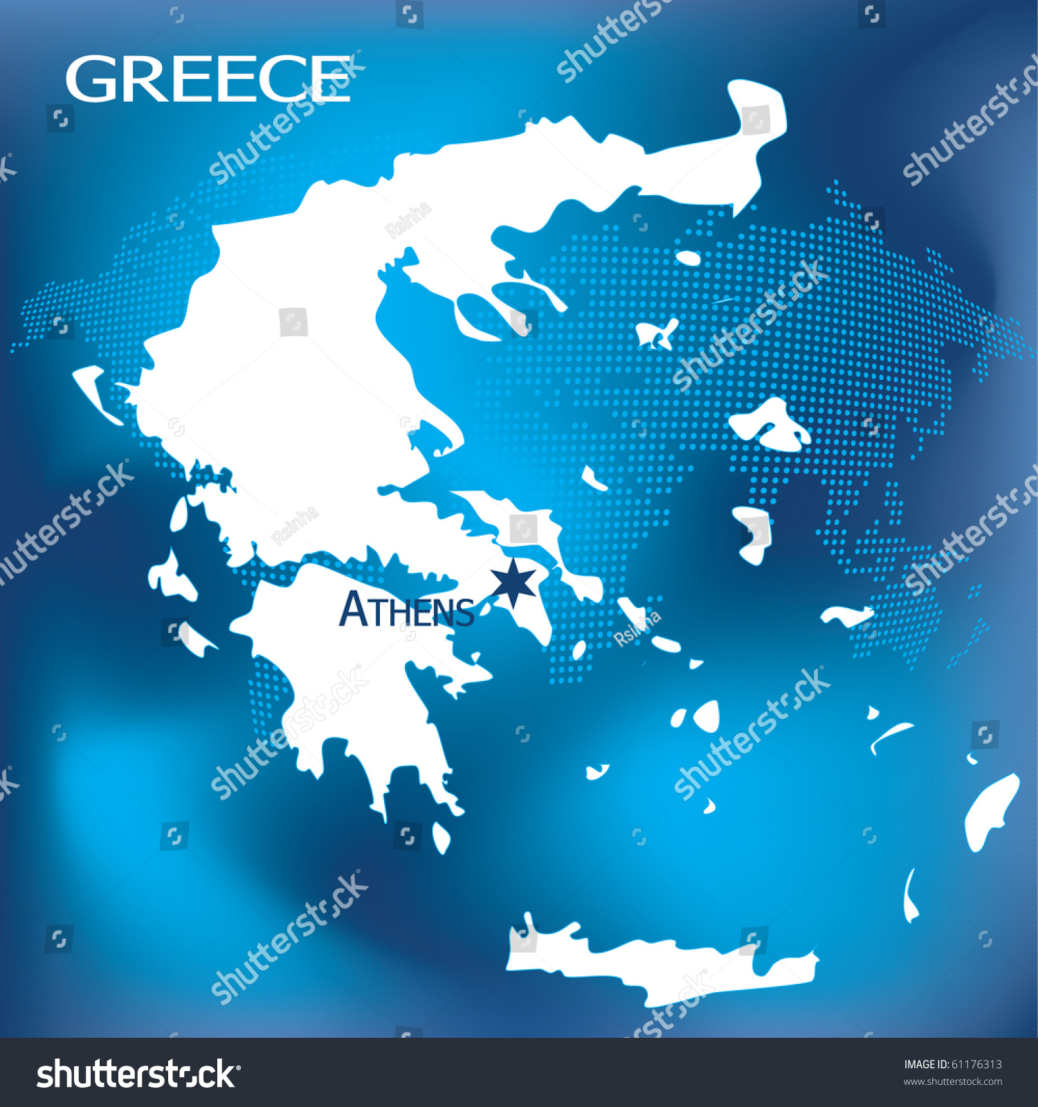 Greece Map Athens Dotted World Map Illustration 61176313 – Map World Greece