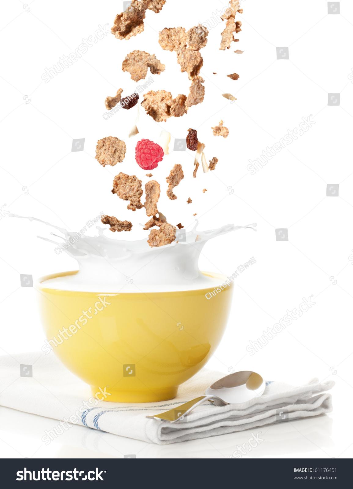 milk splash in bowl
