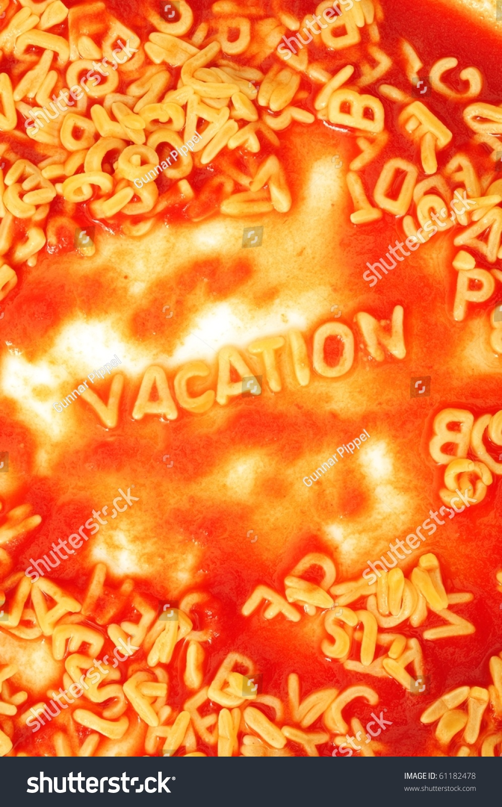 Vacation Holiday Concept Red Pasta Snack Stock Photo 61182478 ...