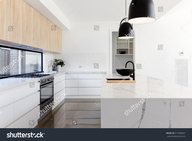 Luxury Industrial Scandinavian Styled Kitchen Marble Stock Photo Edit Now 611906951