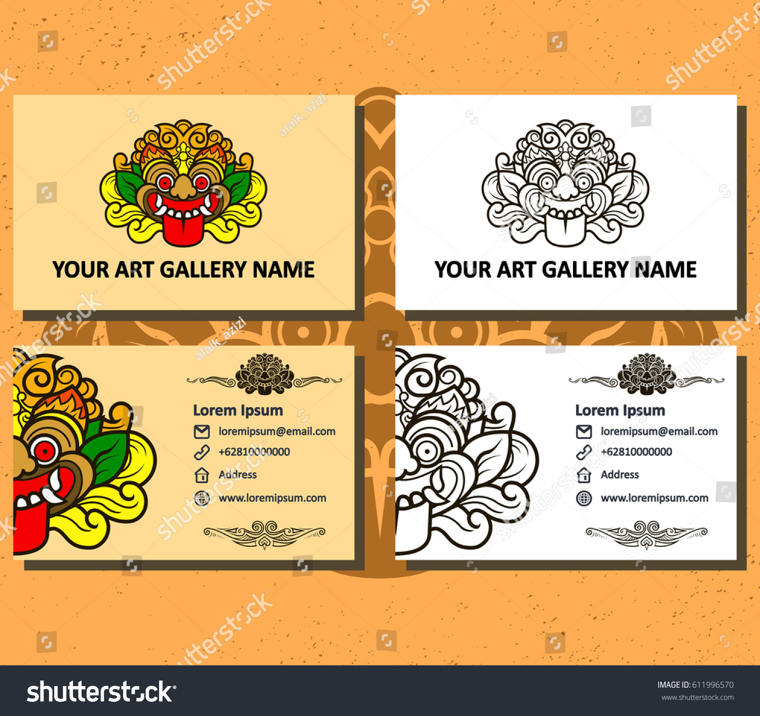 Art Gallery Business Card Stock Vector 611996570 - Shutterstock
