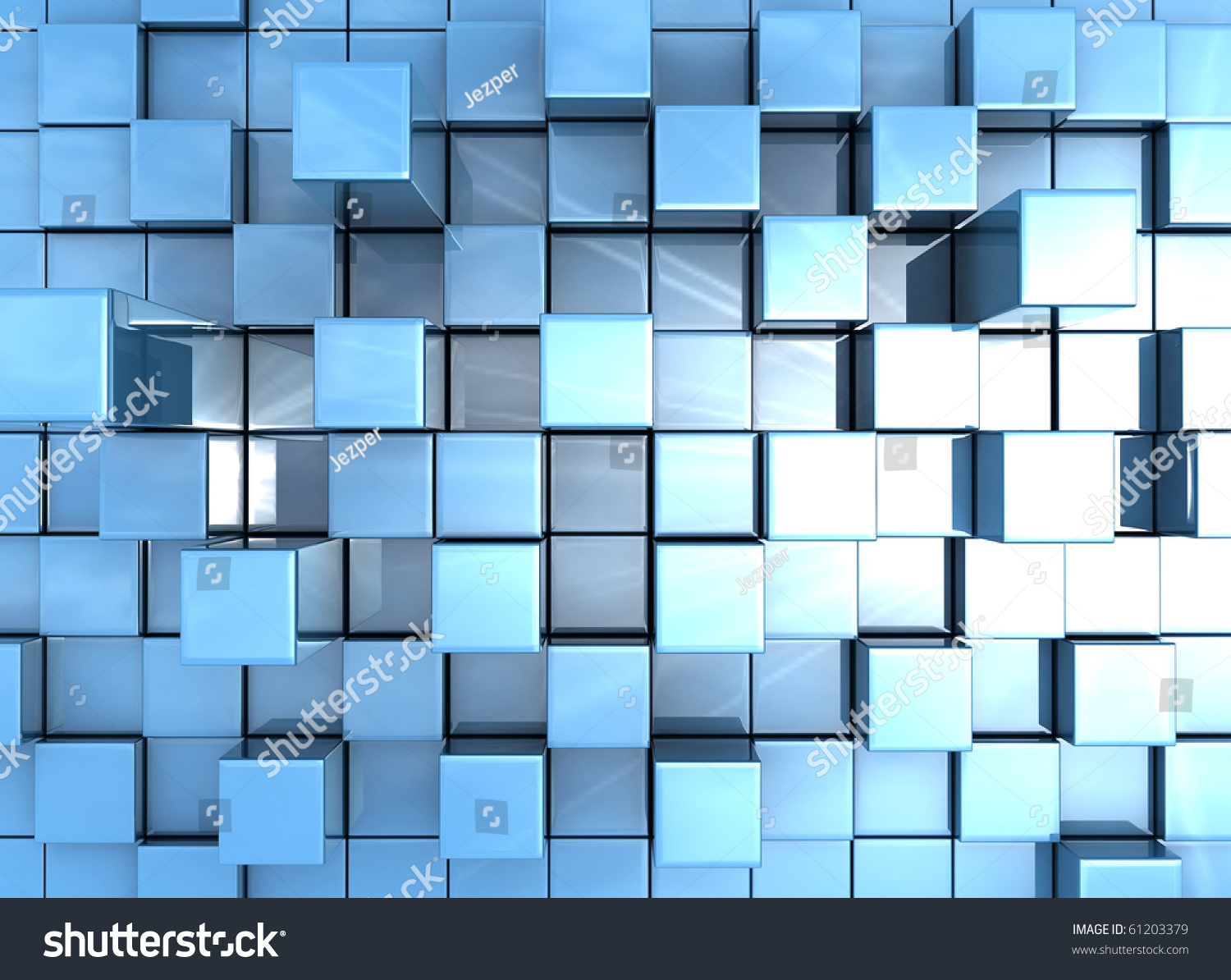 3d Blue Abstract Mesh Background Circles Stock Vektor: Abstract Blue Cubes Background Stock Photo 61203379