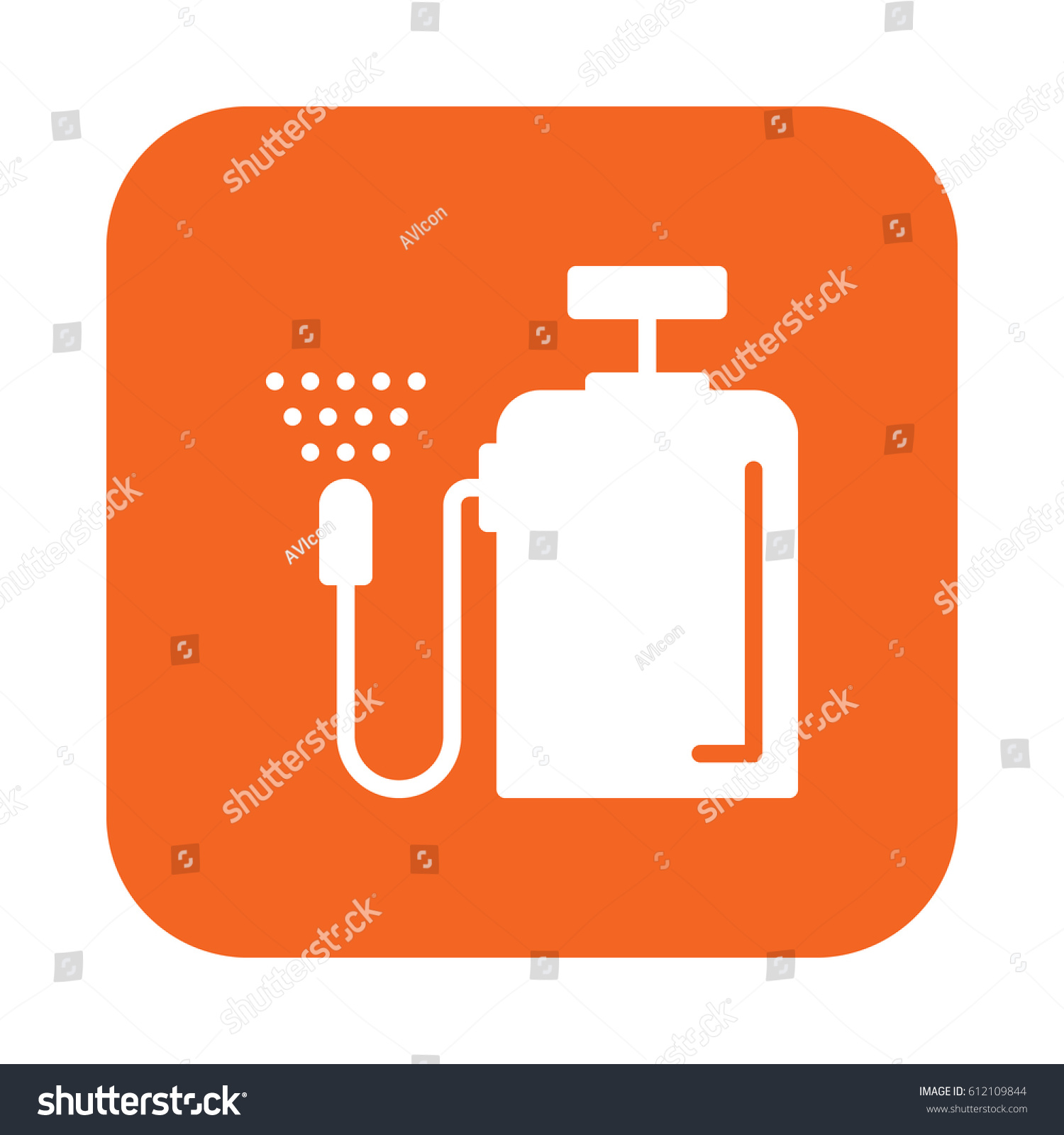 Pressure sprayer flat icon filled vector stock vector 612109844 pressure sprayer flat icon filled vector sign colorful pictogram on rounded square button isolated biocorpaavc