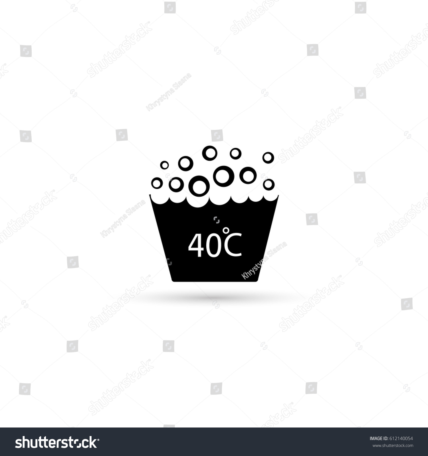 Washing Under 40 Degrees Celsius Textile Stock Vector Royalty Free