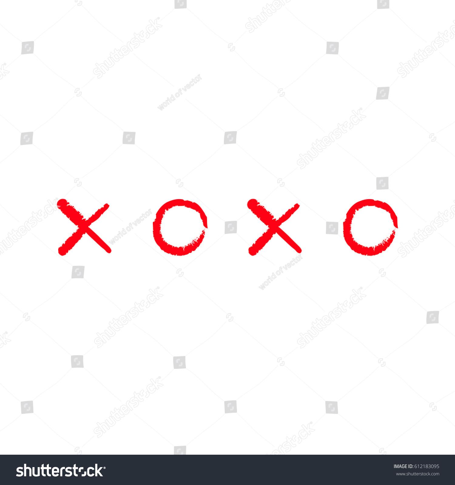 Xoxo Hugs Kisses Sign Symbol Mark Stock Illustration 612183095