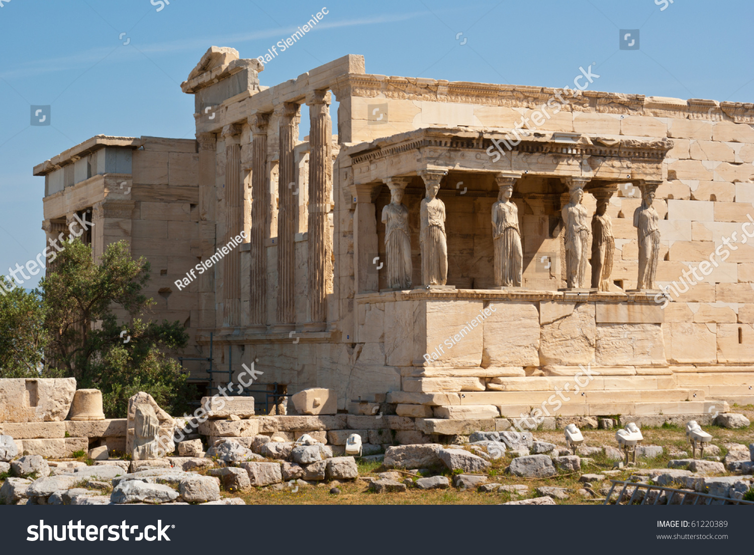 The Erechtheion With The Porch Of The Caryatids At The ...
