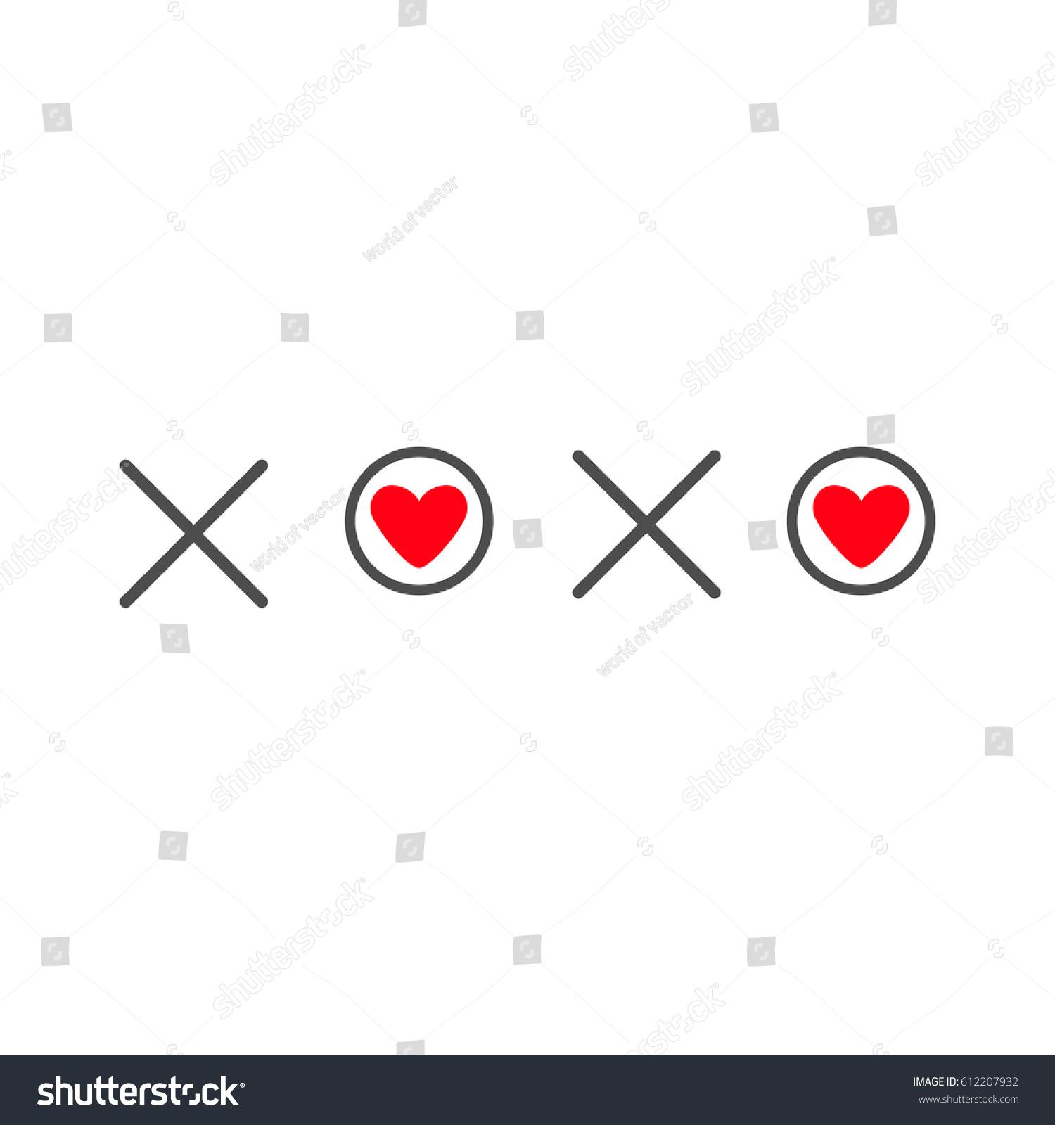 Xoxo Hugs Kisses Sign Symbol Mark Stock Illustration 612207932