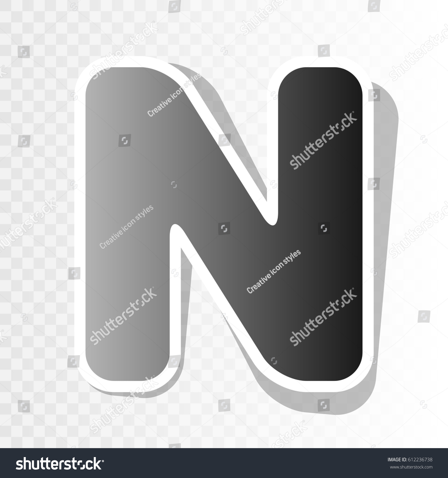 Letter N Sign Design Template Element Stock Vector 612236738 ...