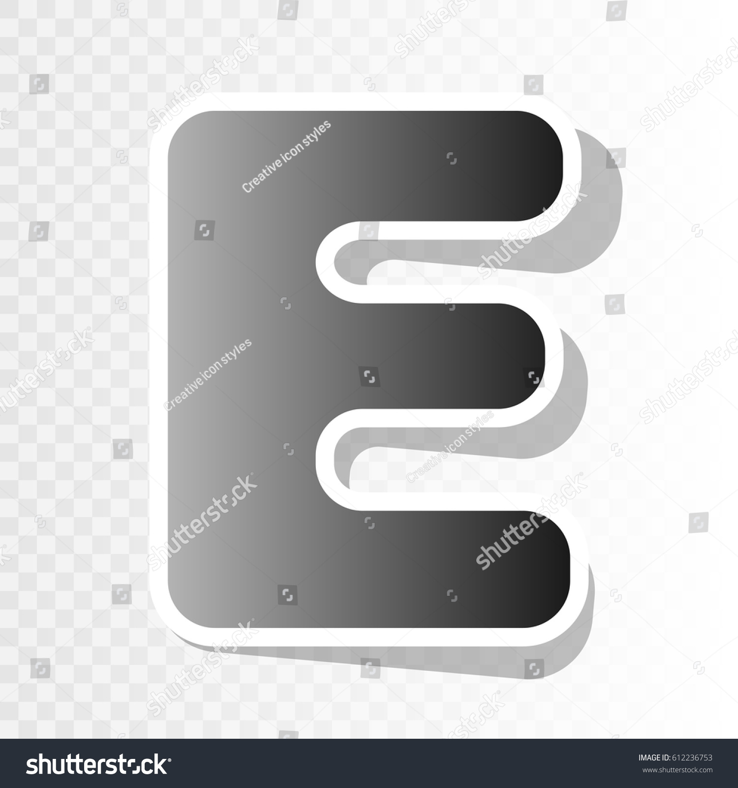 Letter E Sign Design Template Element Stock Vector 612236753 ...