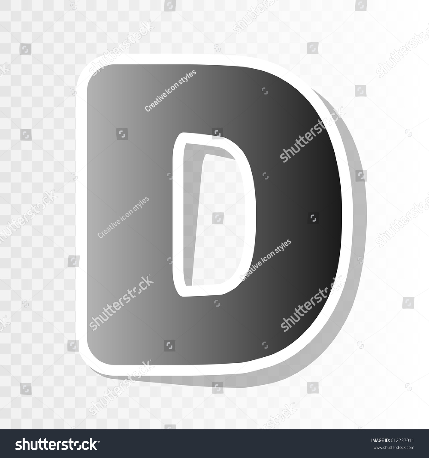 Letter D Sign Design Template Element Stock Vector (Royalty Free ...