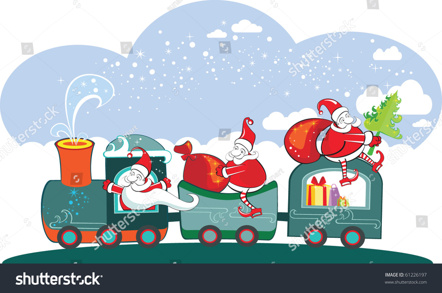 New Year Winter Christmas Card Happy Stock Vector (Royalty Free ...