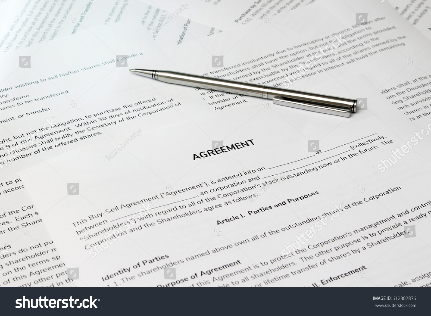 contract papers with a pen on the table the documents is ready to