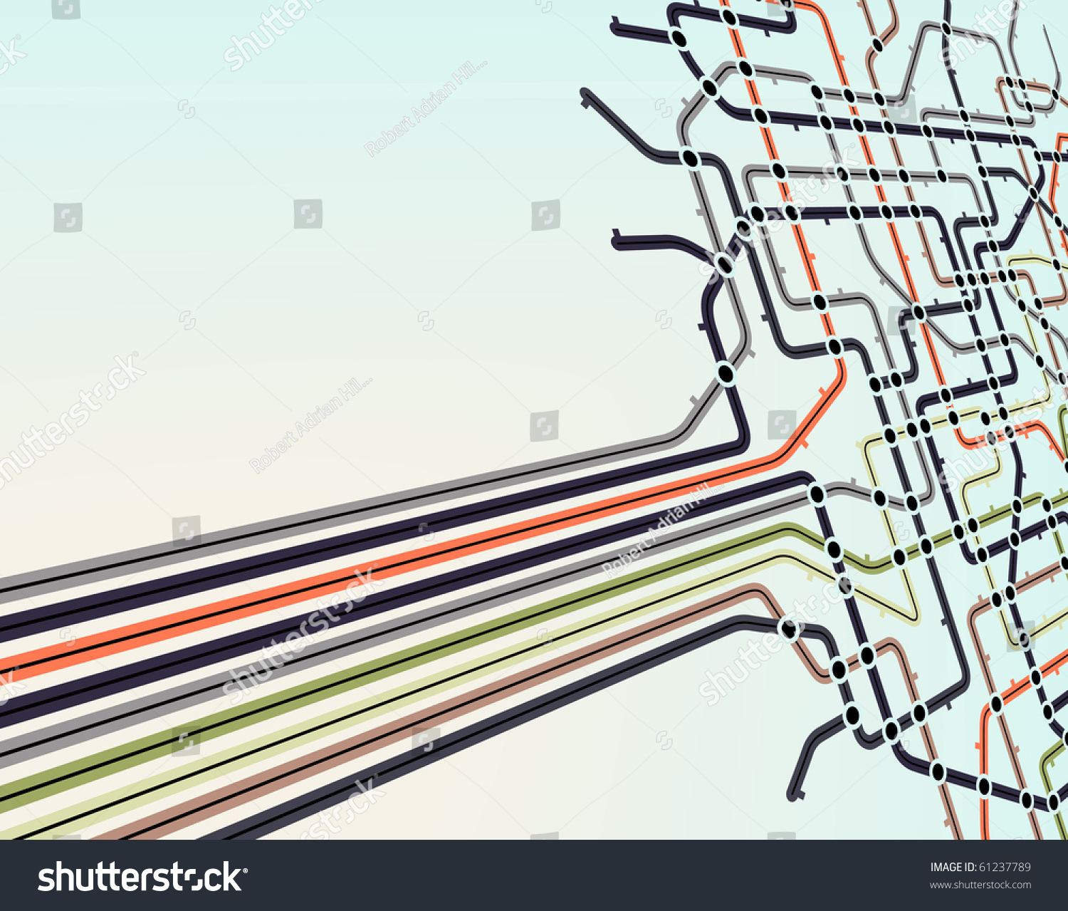 Abstract Editable Vector Background Subway Map Stock Royalty Wiring Schematic Of A