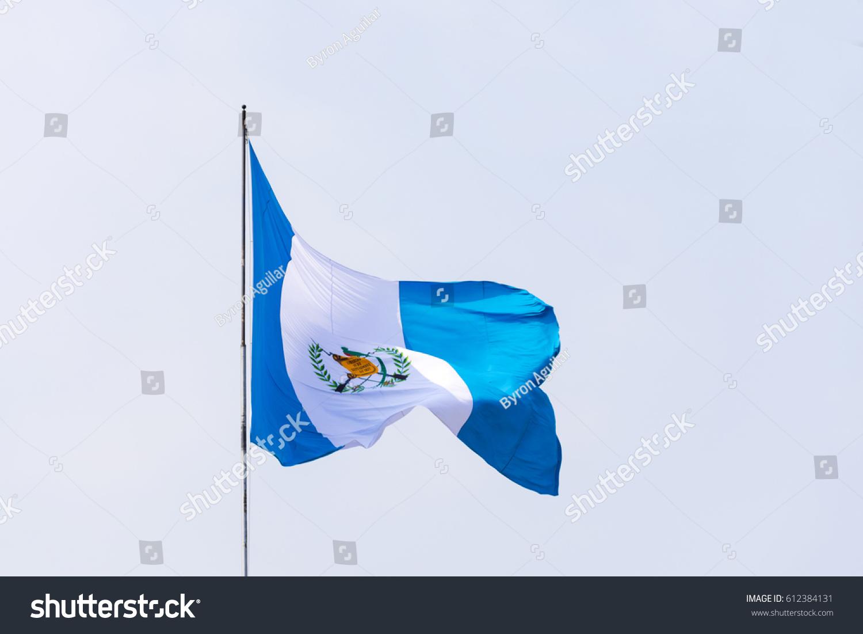 Royalty Free Guatemala Flag National Symbol Waving 612384131