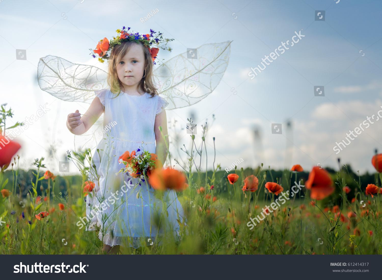 Fairy Girl Poppy Field Stock Photo Edit Now 612414317 Shutterstock
