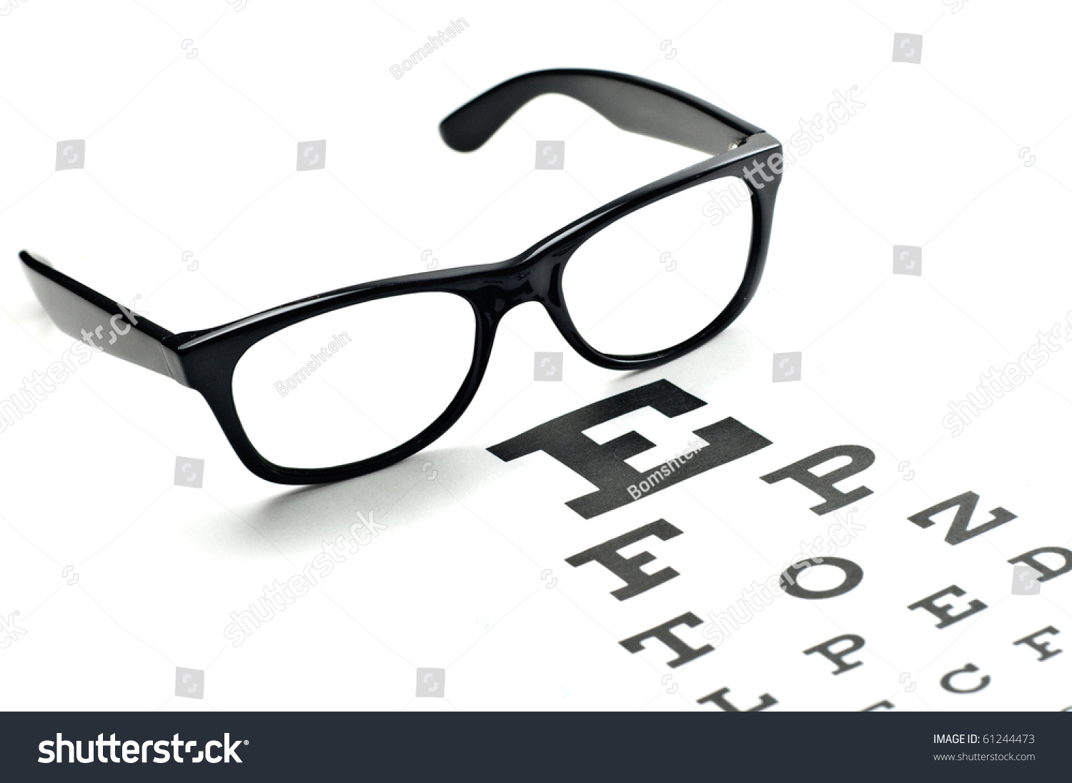 Reading glasses eye chart isolated on stock photo 61244473 reading glasses with eye chart isolated on white nvjuhfo Image collections