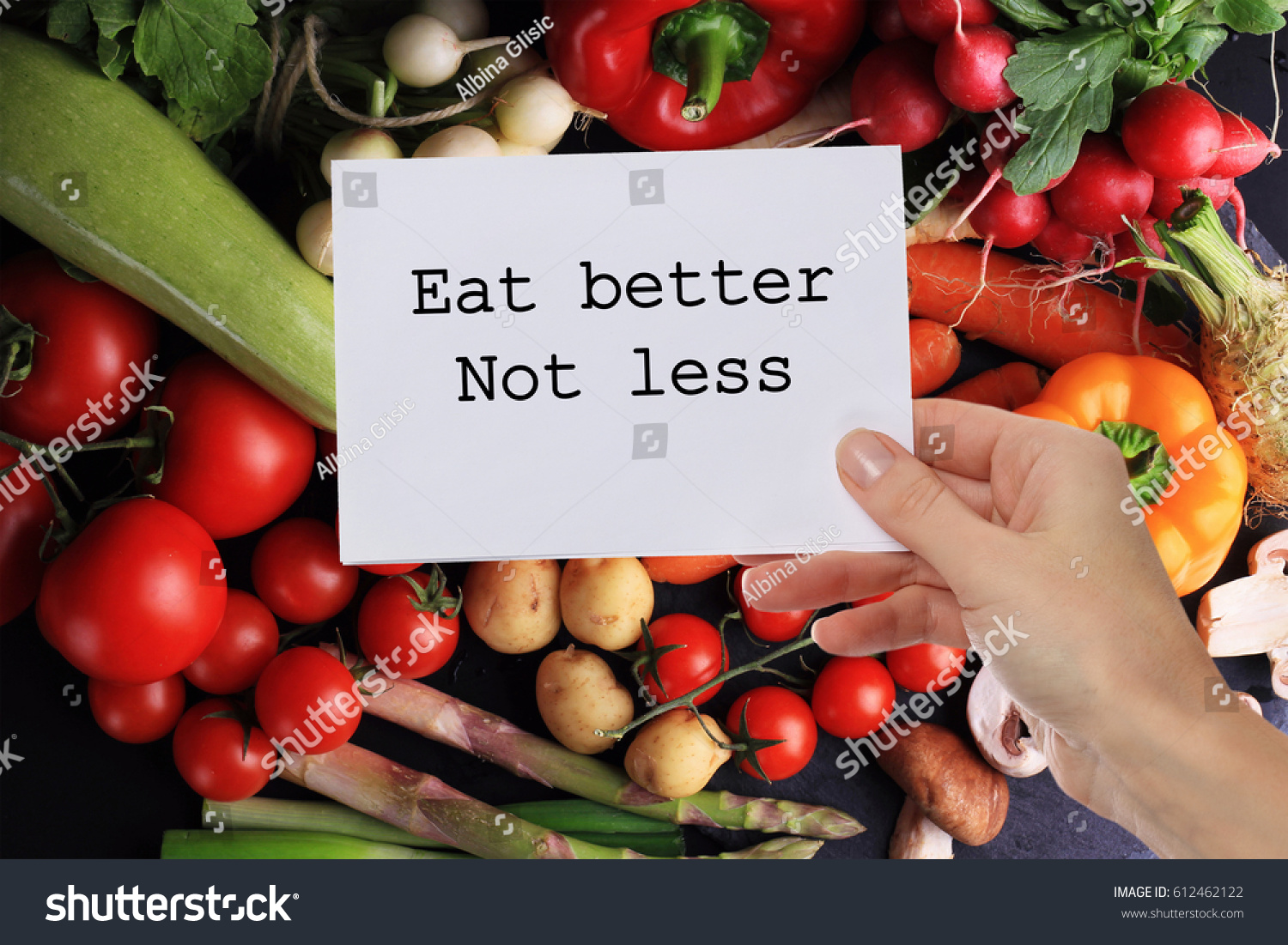 Motivation Inspirational Quote Eat Better Not Stock Photo Edit Now