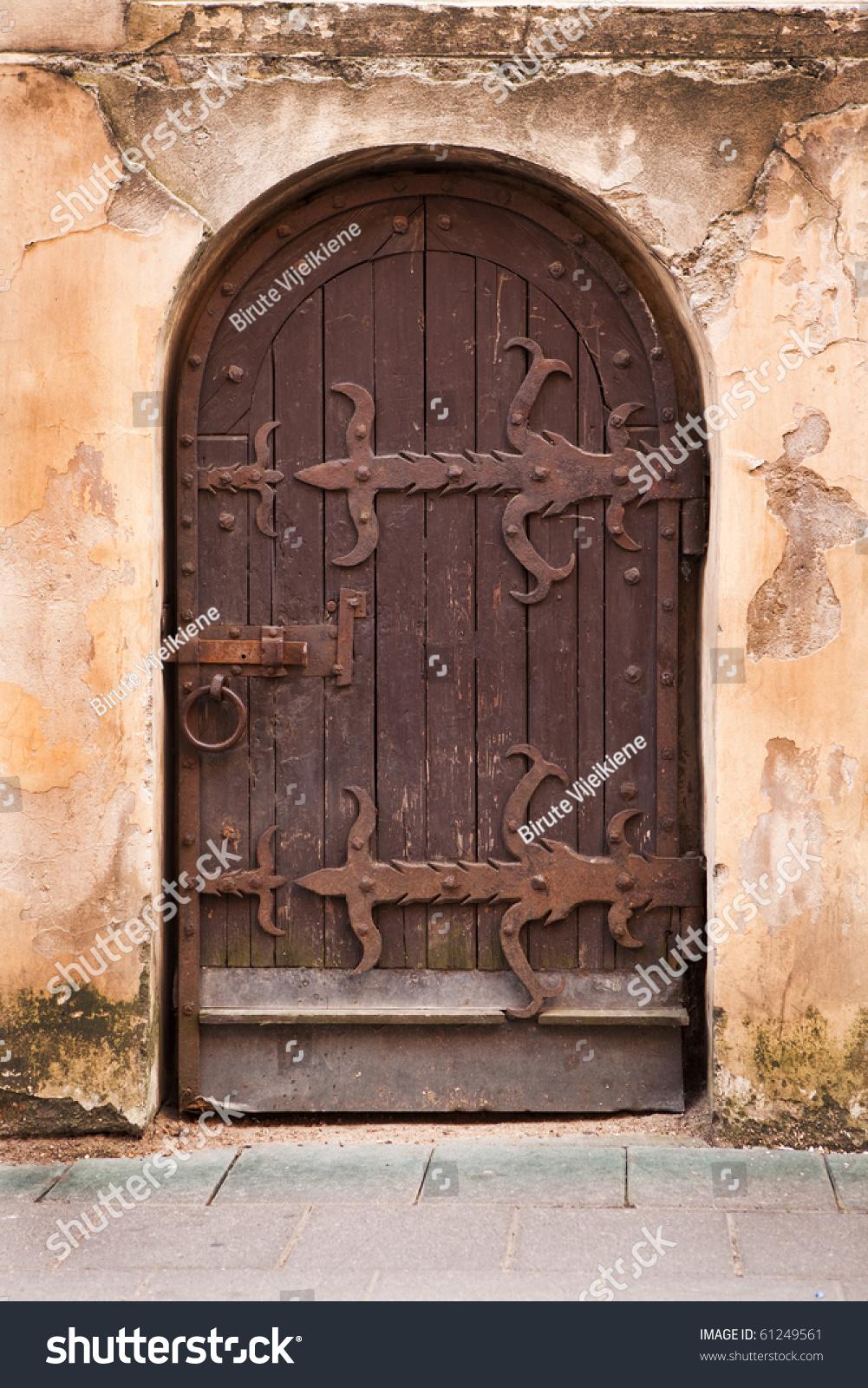 Old medieval door in Vilnius old-town Lithuania & Old Medieval Door Vilnius Oldtown Lithuania Stock Photo (Edit Now ...