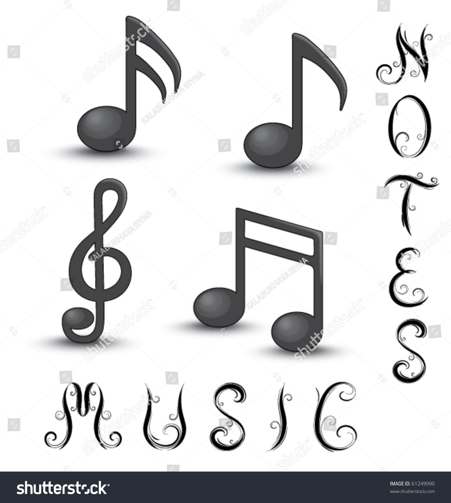 Music symbols stock vector 61249990 shutterstock music symbols buycottarizona Gallery