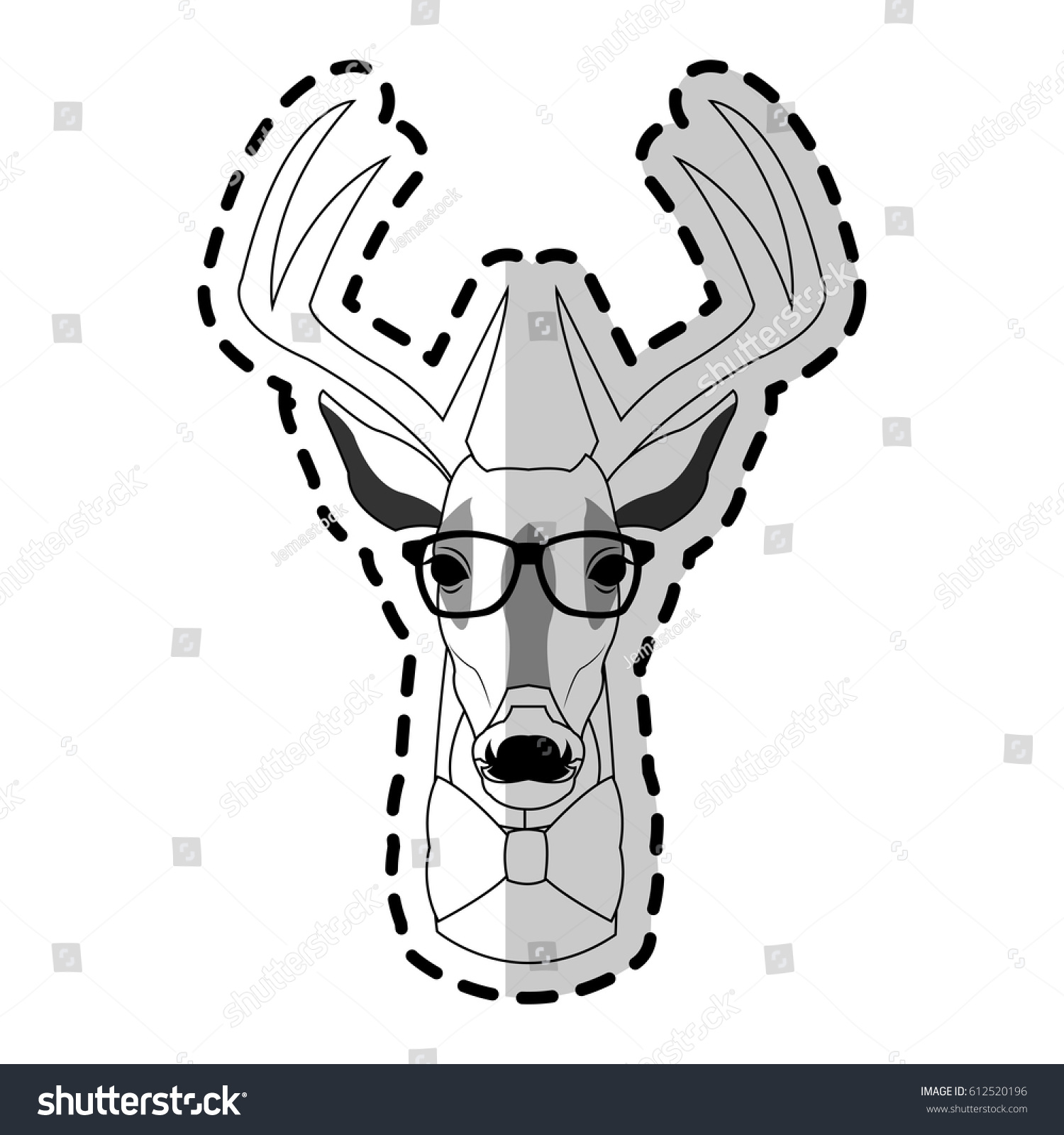 Deer Stag Hipster Animal Icon Image Stock Vector Royalty Free