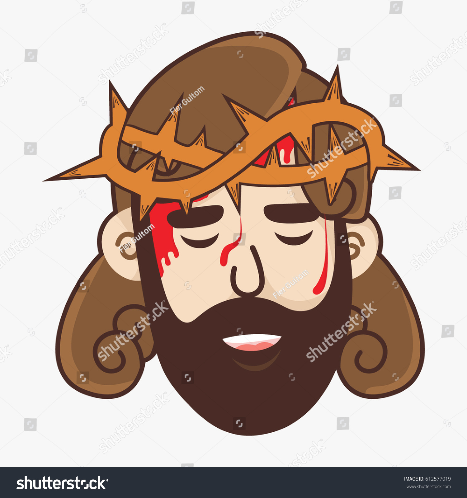Crown Of Thorns Cartoon : Download thorn crown stock vectors.