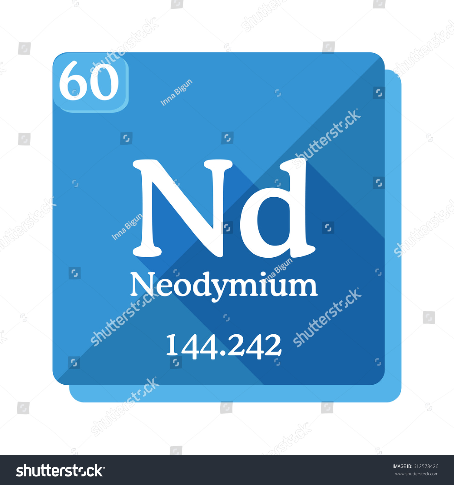 Neodymium nd element periodic table vector stock vector 612578426 neodymium nd element of the periodic table vector illustration in flat style gamestrikefo Choice Image