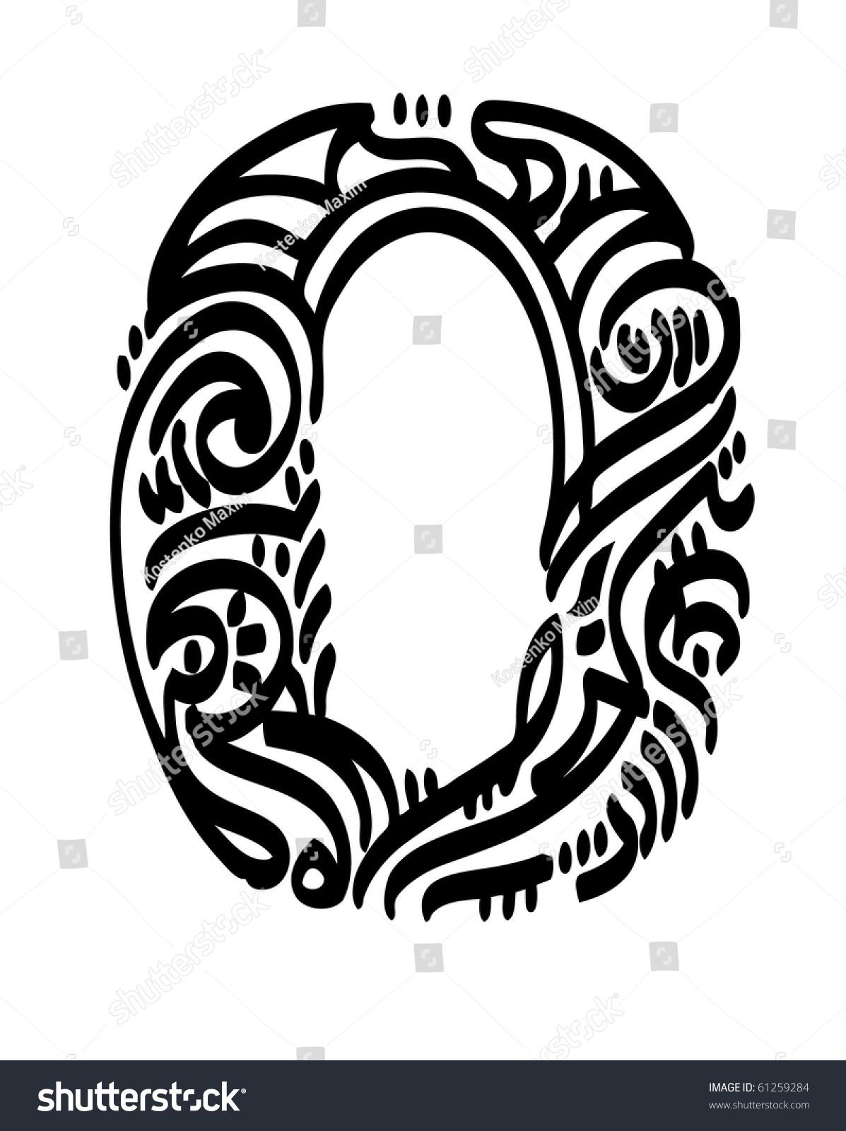Zero vector illustration calligraphy