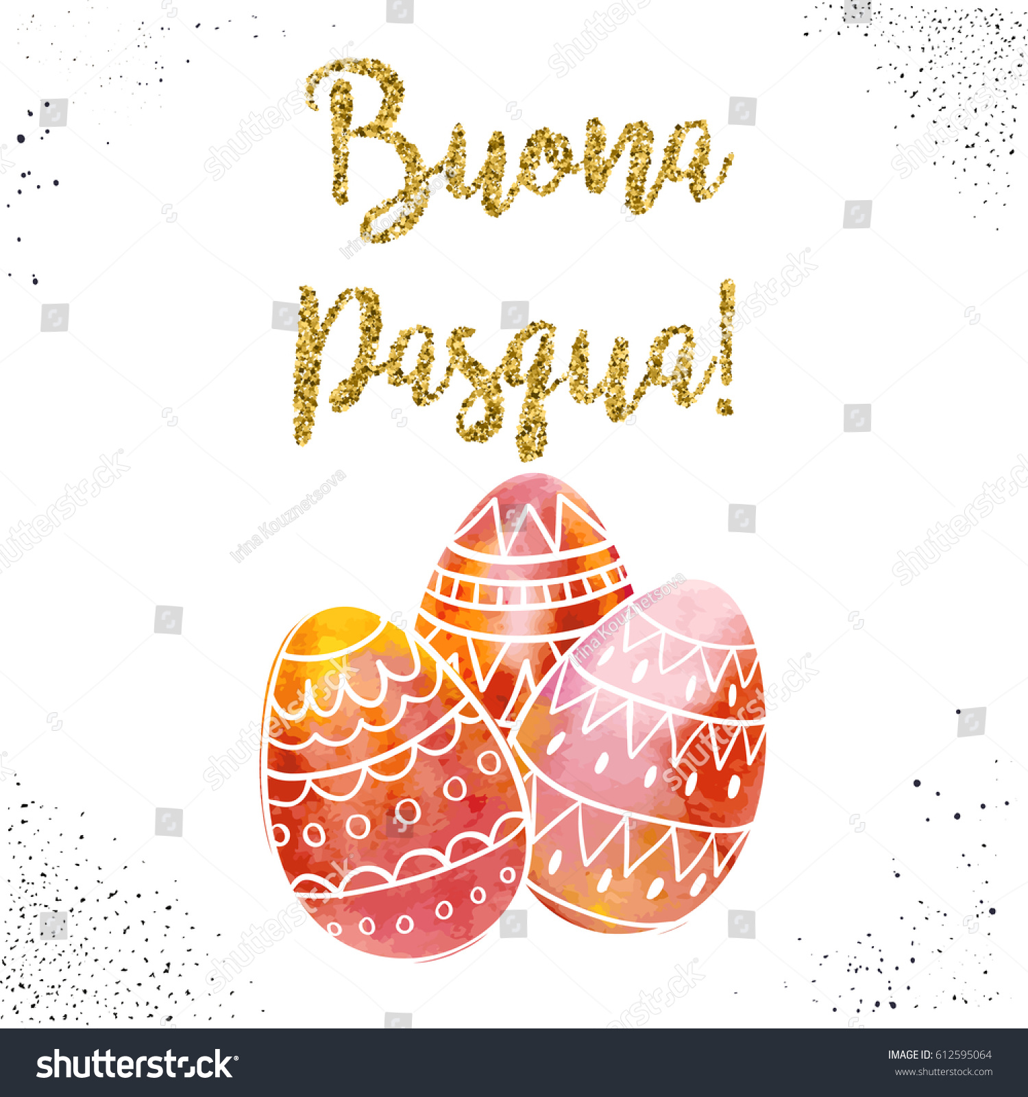 Happy Easter Greeting Card Hand Drawn Stock Vector Royalty Free