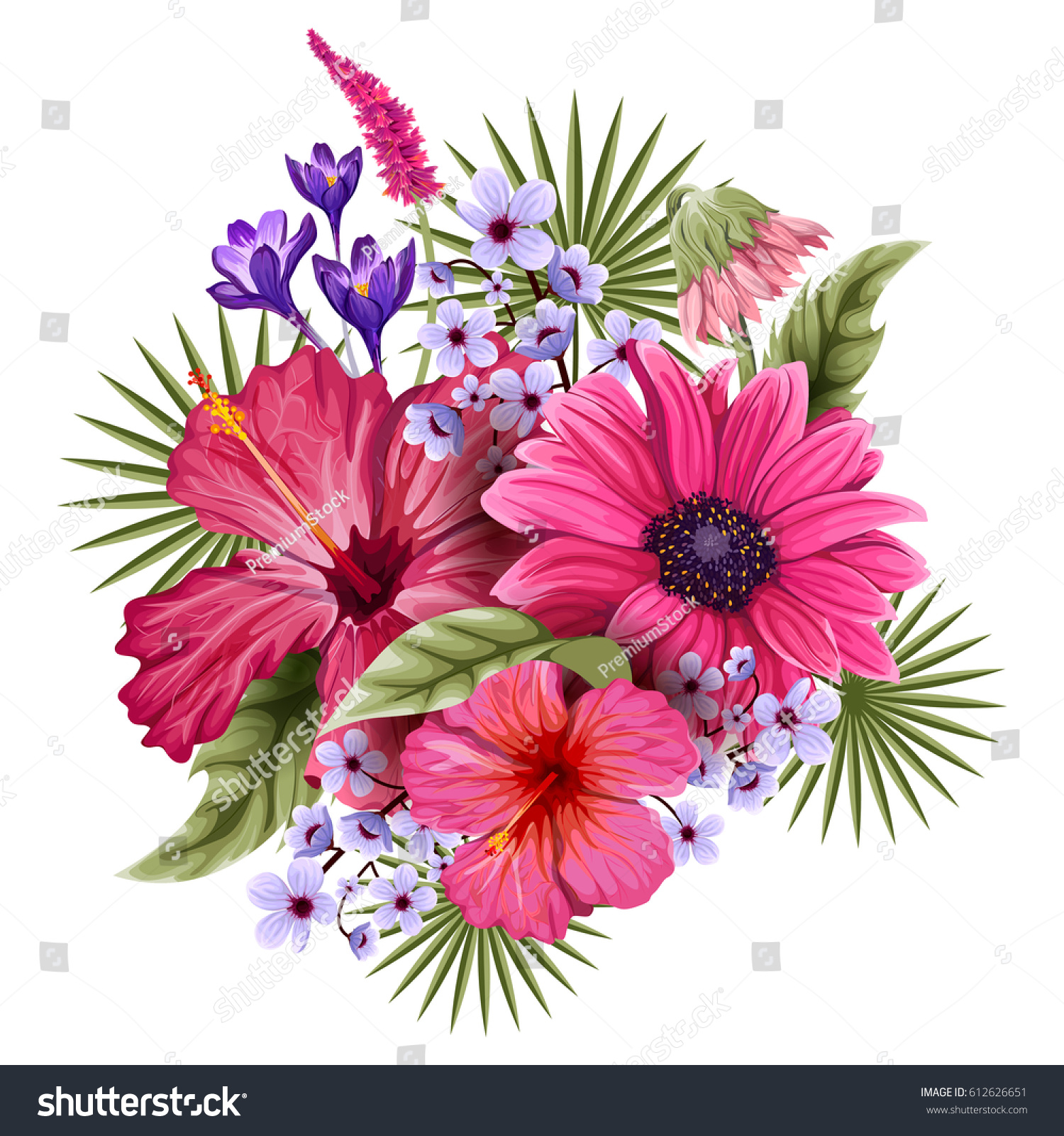 Vector design of colorful vintage flower bouquet for invitation and id 612626651 izmirmasajfo