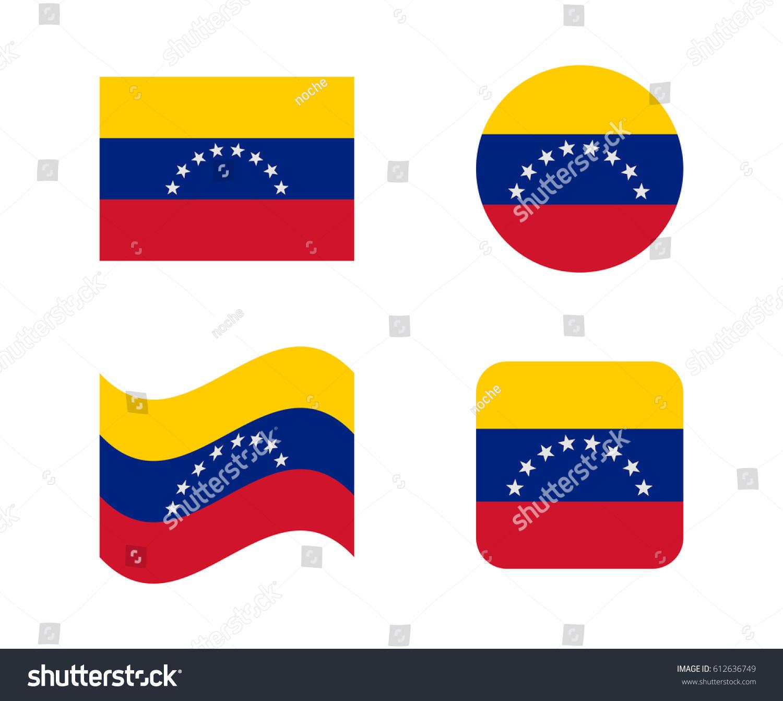Set 4 flags venezuela stock vector 612636749 shutterstock set 4 flags of venezuela pronofoot35fo Gallery