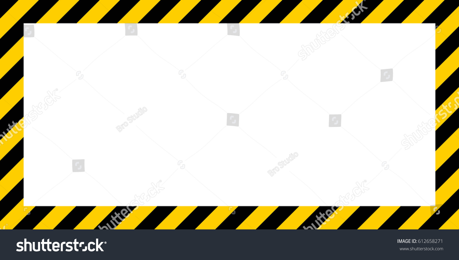 Border frame with black and yellow stripe on white background - Warning Striped Rectangular Background Yellow And Black Stripes On The Diagonal Warning To Be