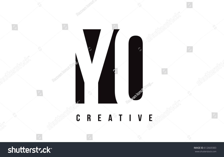 Yo y o white letter logo stock vector 612669383 shutterstock yo y o white letter logo design with black square vector illustration template buycottarizona Images