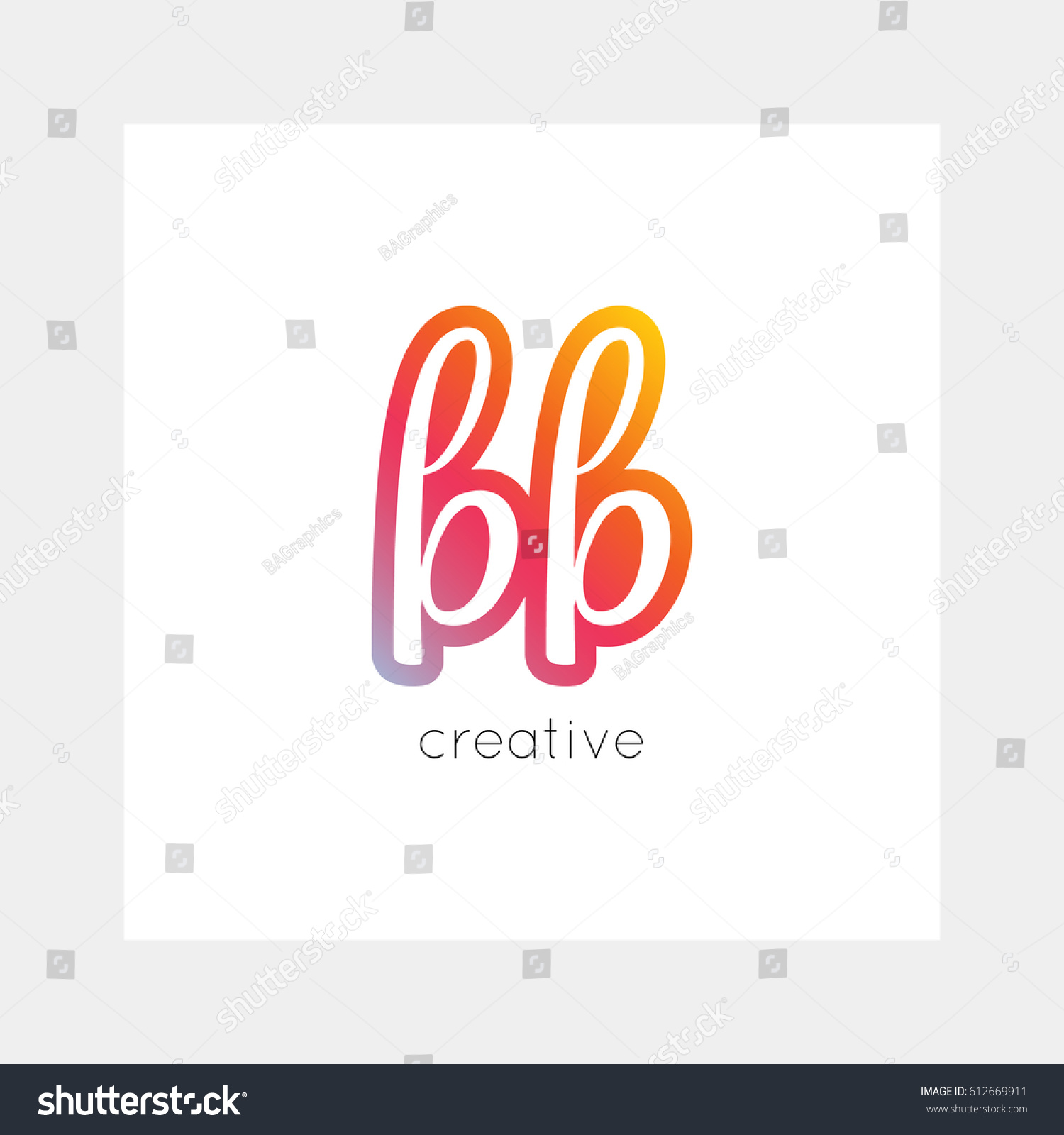 Bb Logo Vector Useful Branding Symbol Stock Vector Royalty Free