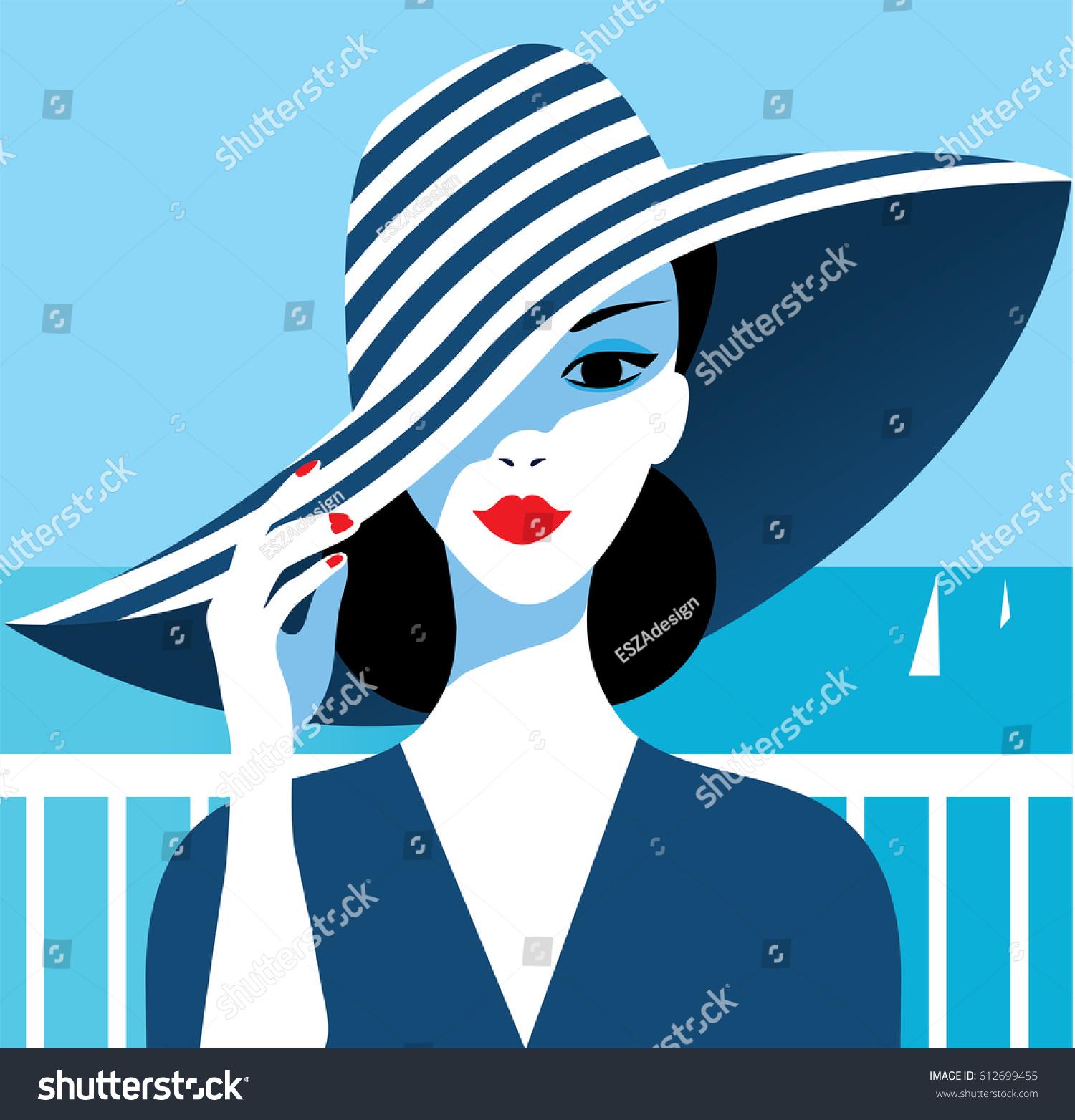 Stylish beautiful model fashion design art stock vector for Deco graphic