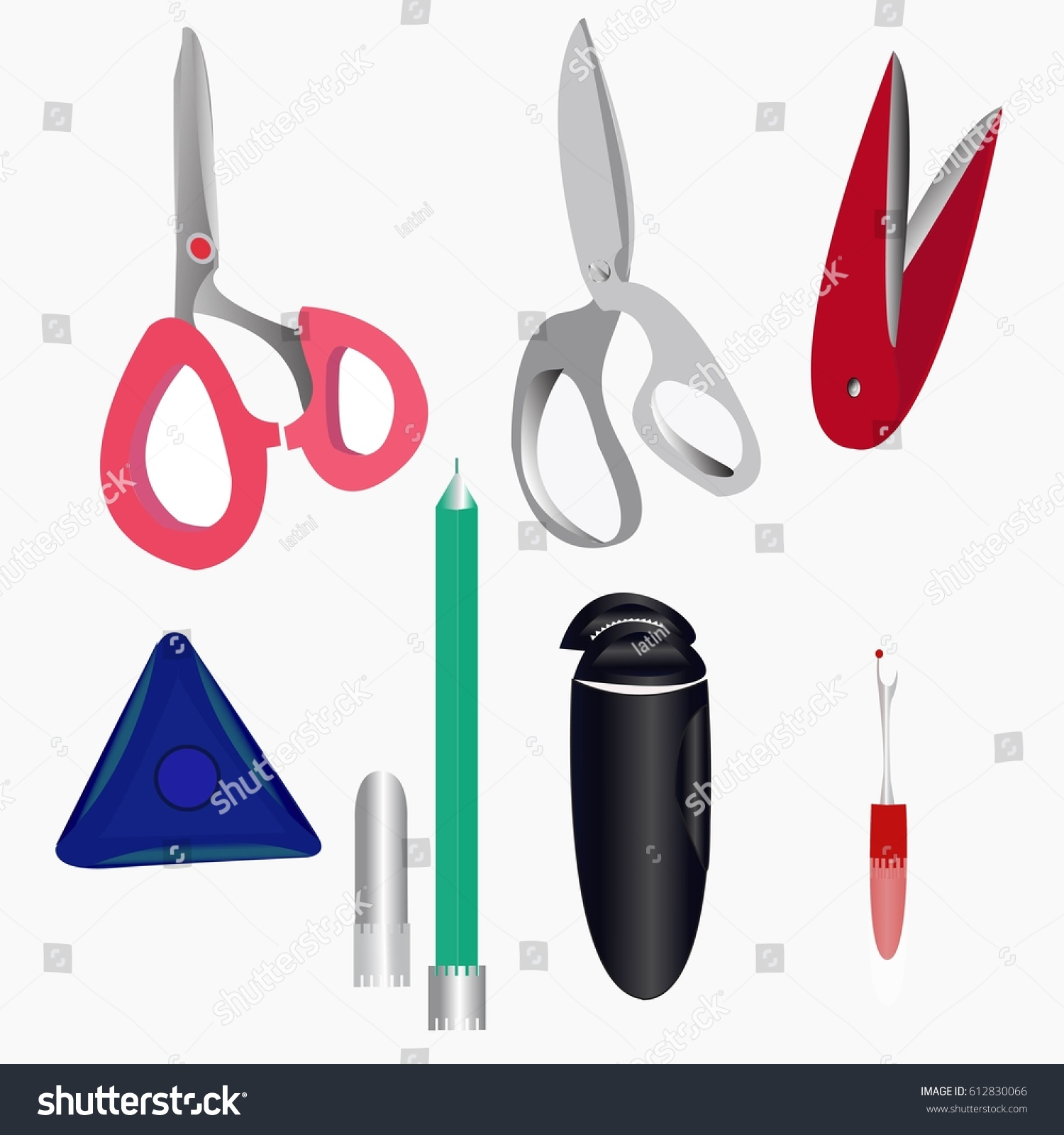 a set of tailor vector illustration