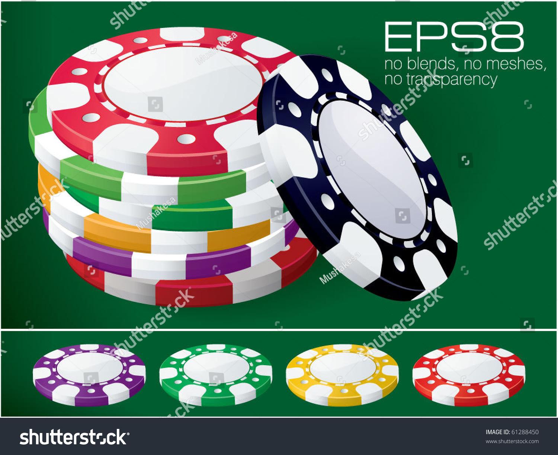 Casino chips vectors