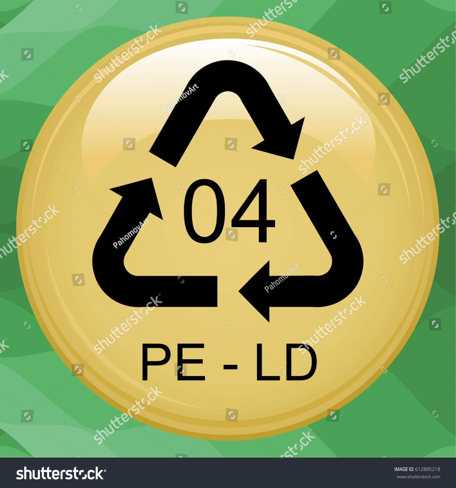 Ldpe 4 icon lowdensity polyethylene sign stock illustration ld pe 4 icon low density polyethylene sign recycling symbol flat biocorpaavc Choice Image