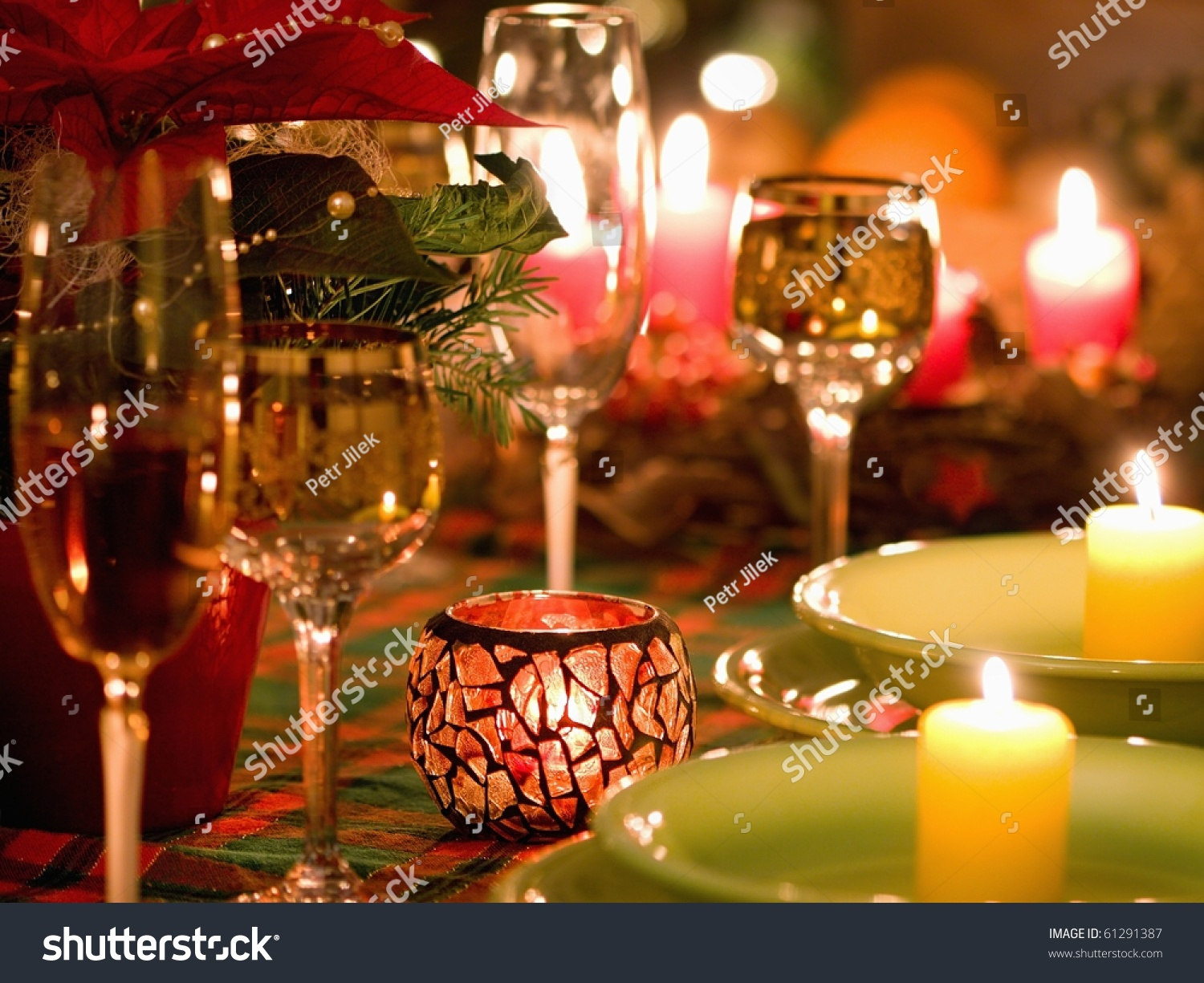 Beautiful place setting christmas stock photo 61291387 for Place setting images