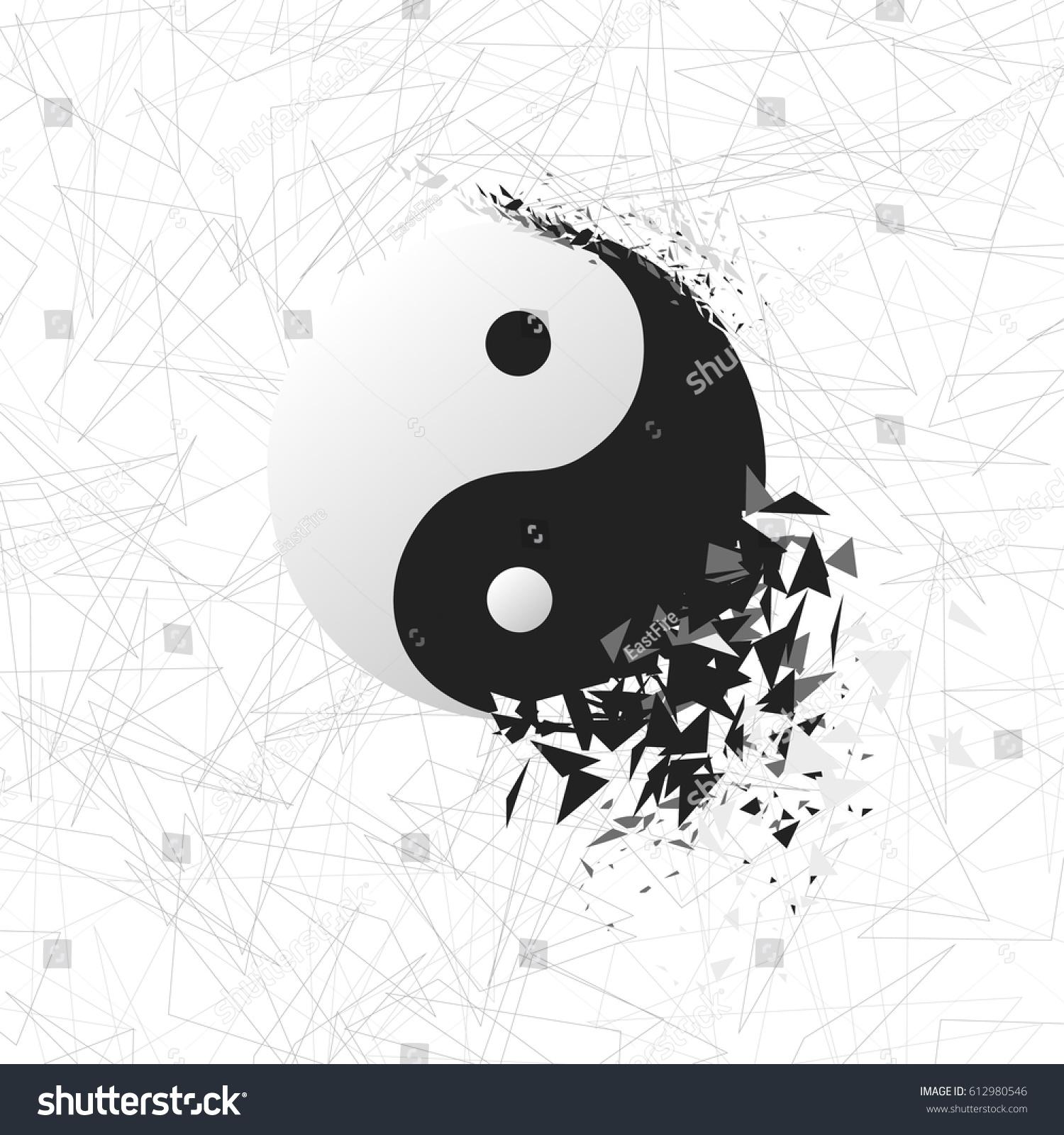 Tai Chi Explosion V Ector Yin Yang Stock Vector Royalty Free